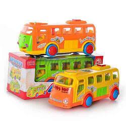 Автобус ZYA-A 1017-1-2 (42шт) муз(рус), свет, 3 цвета, на бат-ке, в кор-ке, 28,5-12,5-12см