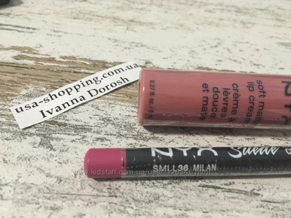Матовый карандаш для губ NYX Milan