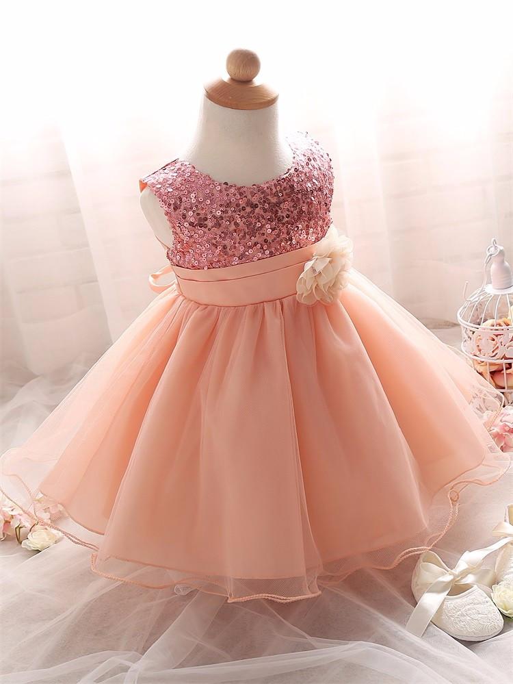 bfca4fe23c6 Нарядное платье с паетками пудра для девочки на 1- 1