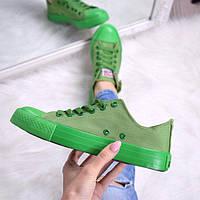 Кеды женские All Stars Converse зеленые , женская обувь 2017
