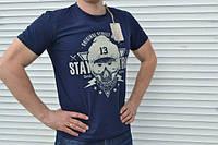 Мужская футболка(синяя)