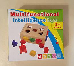 Деревянная игрушка Сортер MD 0936 (24шт) стучалка,фигурки-цифры,молоток,в кор-ке,23,5-16-16см