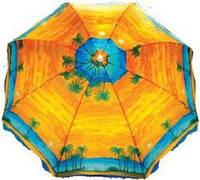 Зонт пляжный пальма  с наклоном 1,8 м. диаметр