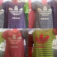 Футболка полоска Adidas 46-52