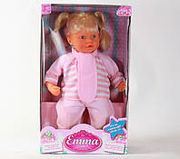 Кукла Falca EMMA, разг.на рус. яз., мягкотелая, ручки, ножки и голова из винила, Испания, 28*47*14см