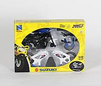 "Мотоцикл пласт. New Ray, ""SUZUKI"", метал., сборная модель, масштаб 1:12, в кор. 25*18*5см (12шт)"