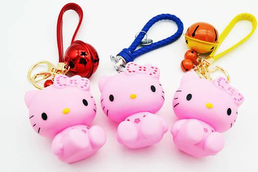Брелок детский мультяшка Брелок Hello Kitty розовый