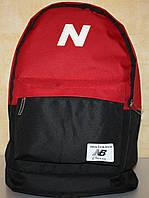 Спортивный городской рюкзак New Balance черный красный, фото 1
