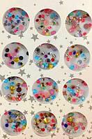 Набор камней и пиксиков разной формы, цвета