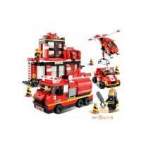 Конструктор SLUBAN 620036/M 38 B 0225 (24шт) пожарные спасатели, 371 дет, в кор-ке, 38-29-6см