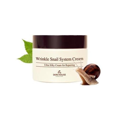 The skin house Wrinkle Snail System cream Крем с экстрактом улитки