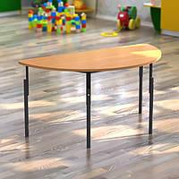 Стол детский полукруглый, регулуемый по высоте