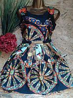 Платье+пояс шелковое ZARA 6036 42-44р черный