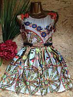 Платье+пояс шелковое ZARA 6036 42-44р белый