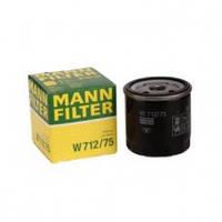 Фильтр масляный MANN CHEVROLET AVEO 1.4, 1.5, LACETTI, DAEWOO LANOS, ВАЗ 2110 2.0 MF W712/75