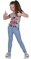 Брюки летние для девочки джинс