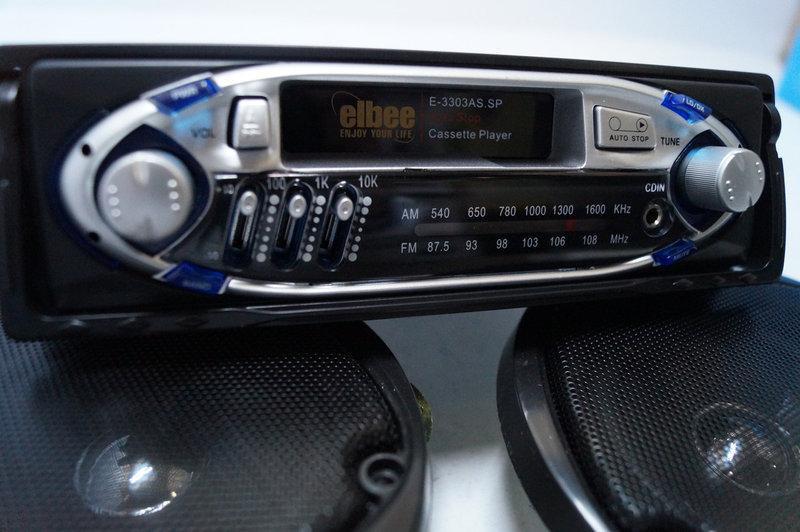 Автомагнитола касетная elbee E3303 SP с колонками