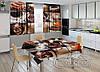 """Фото комплект для кухни """"Кофе"""" (шторы 1,5м*2,0м; скатерть 0,8м*1,0м)"""