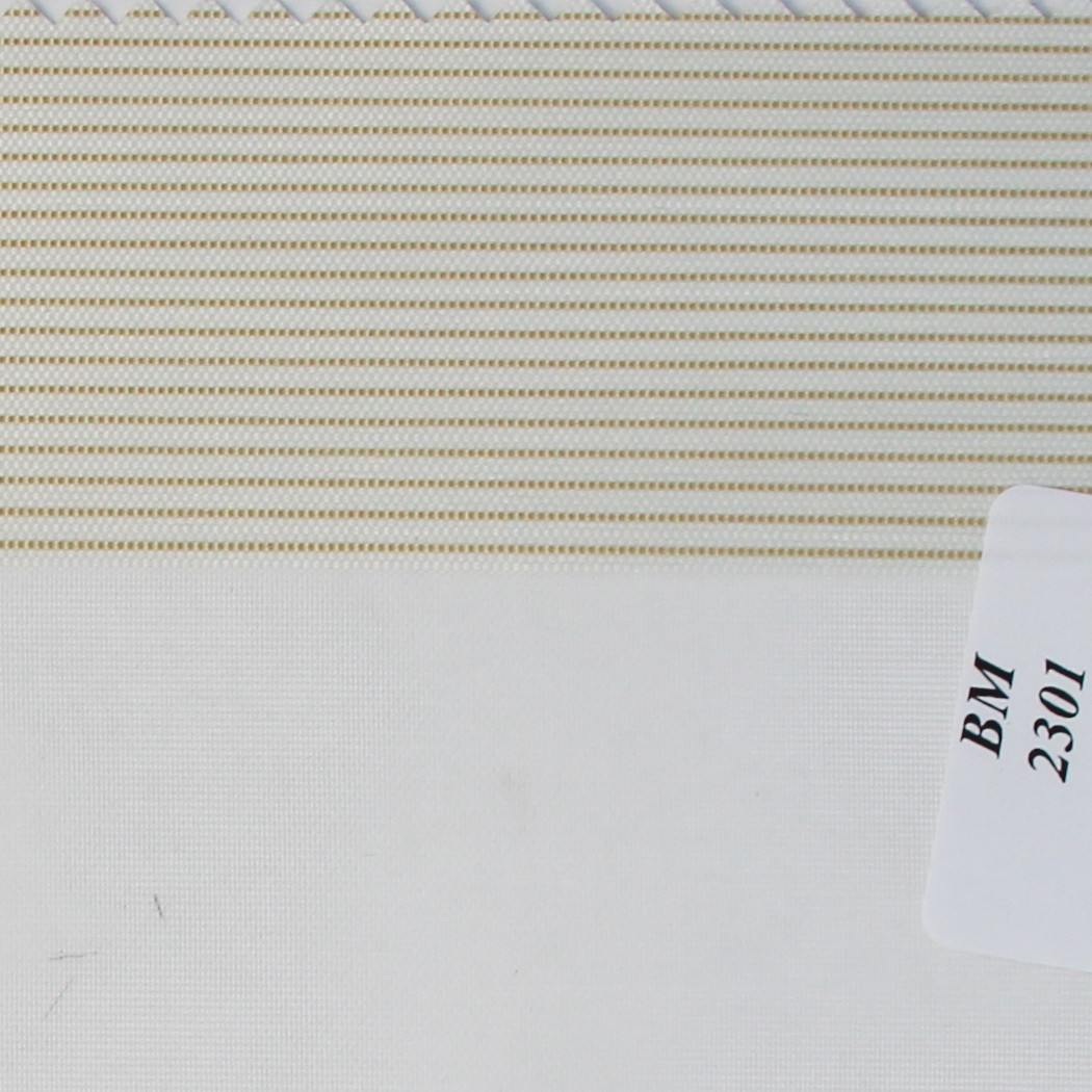 Рулонні штори День-Ніч Тканина Смужка ВМ-2301 Молоко