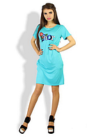 Красивое короткое повседневное легкое трикотажное женское платье   +цвета