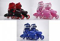 Ролики RS16006 (6шт) р.L 39-42, пласт.рама,колеса PVC,3 цвета
