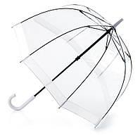 Женский зонт-трость прозрачный Fulton Birdcage-1 L041 - White