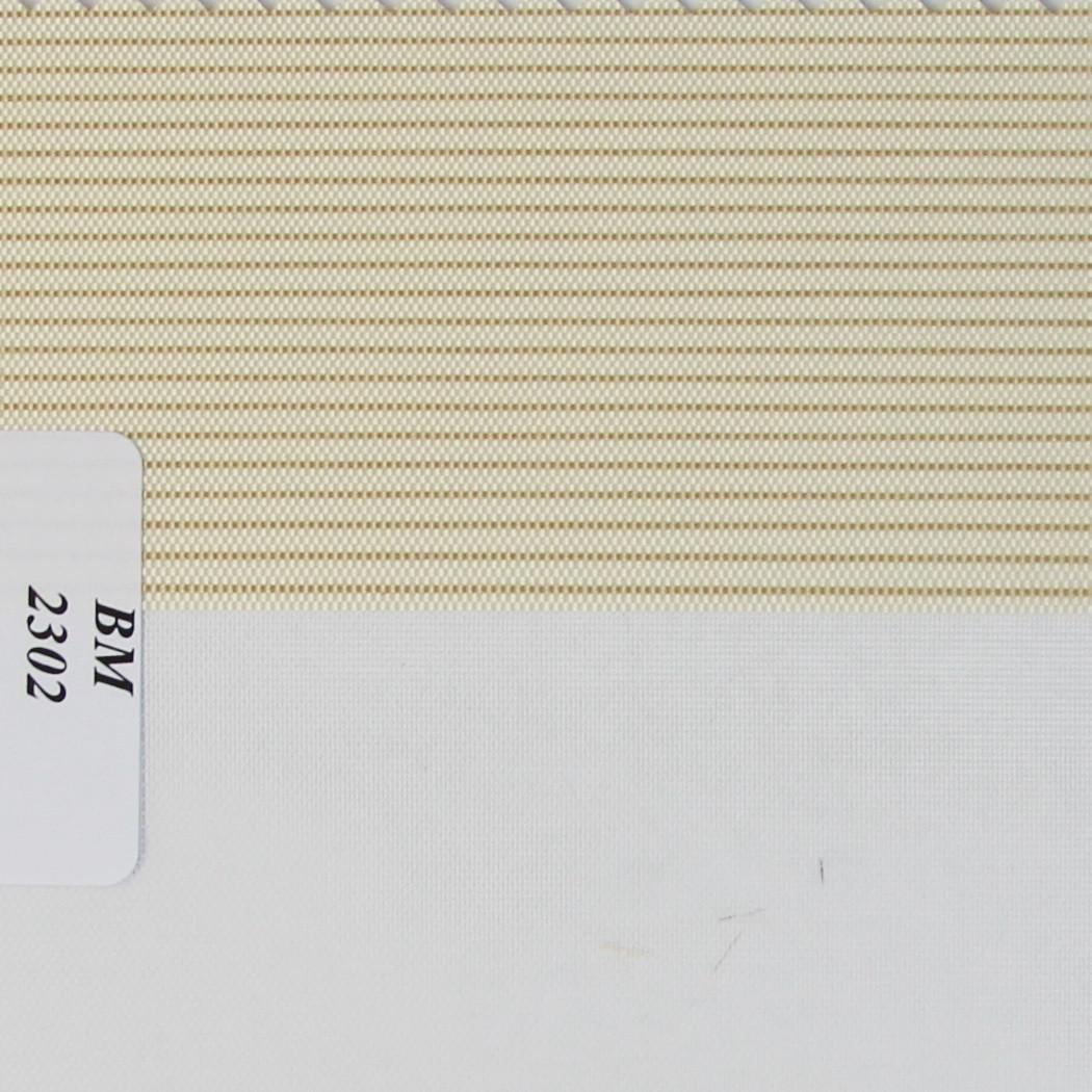 Рулонные шторы День Ночь Ткань Полоска ВМ-2302 Бежевый
