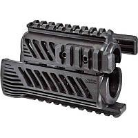 Цевье FAB Defense полимерное для АКСУ/Вулкан, 4 планки ц:black + сертификат на 150 грн в подарок (код 186-281976)