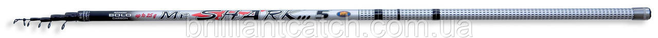 Удочка с кольцами Lineaeffe Mr.SHARK IM7  (кольцаSIC) 4м до25гр.
