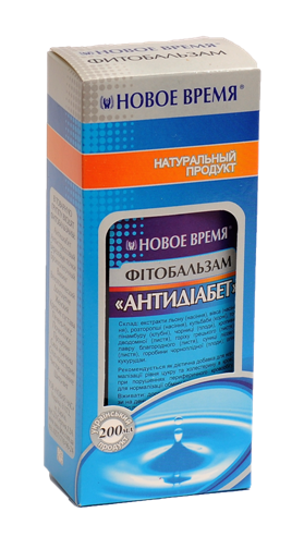 "Травяной бальзам сахароснижающий, противодиабетичесий ""Антидиабет"" Новое время, 200 мл"
