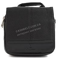 Зручна невелика міцна чоловіча сумка з якісної шкіри PU SAIFILO art. SF095-1 чорний, фото 1