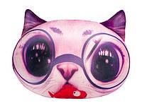 """Антистрессовая игрушка мягконабивная """"SOFT TOYS """"Кіт глазастий"""" розовый, 40*30см"""