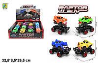 """Джип-монстр KLX500-232 """"Monster Wheels"""" инерц.7цв.12шт.в кор.32,5*29,5*8,5 ш.к./24/288/"""