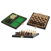 "Шахматы ""Карманные"", деревянные фигуры, 20*20см"