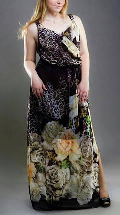 "Женский сарафан в пол ""Шифон на подкладке"" 46, 48 размеры, фото 2"