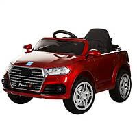 Детский электромобиль Bambi M 3179 EBLRS-3 с кожаным сиденьем, в краске (красный)