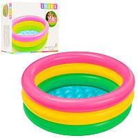 Бассейн для малышей 57107 61-22см с надувным дном