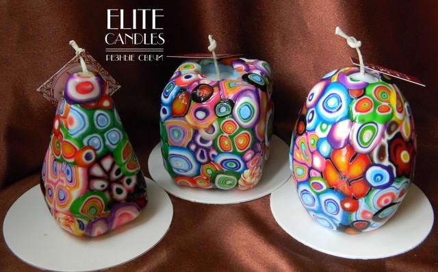 Набор Декоративных свечей ручной работы