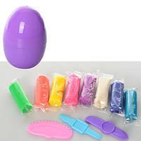 Тесто для лепки MK 0024 (144шт) 8цветов(в стиках), 200г, инструменты 3шт, в яйце, 7-11-7см