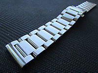 Браслет для часов из нержавеющей ювелирной стали 316L, литой, полированный. 20-й размер., фото 1