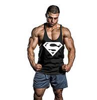 Мужская майка для бодибилдинга Супермэн, черная
