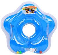 Круг надувной для купания младенцев на шею (с ручками)