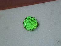 Стеклянный кристалл капля зеленый подвесной 3,5 см длина