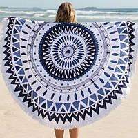 Коврик для пляжа и пикника, синий+белый
