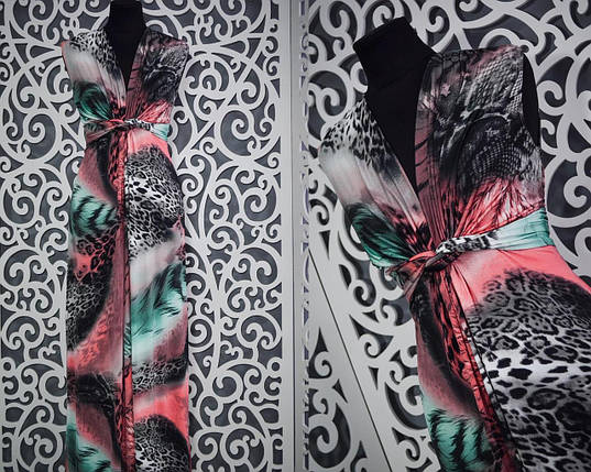 Женское платье-сарафан в пол 50 размер батал, фото 2