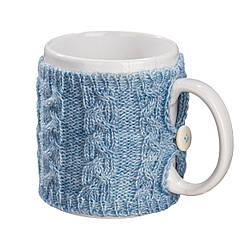 Вязаный чехол для чашки косы Ohaina Powder blue