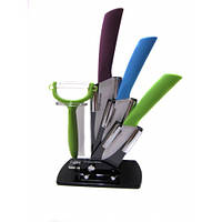 Набор керамических ножей 5 в 1 с подставкой