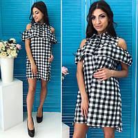 Платье-рубашка с воланами в клетку , бенгалин ! , фото 1