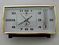 Механические часы PERFECT с будильником и термометром (классика жанра), фото 1