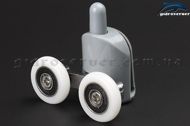 Ролики для душевой кабины, гидромассажного бокса B-43D двойной с  диаметрами колеса от 19 мм до 28 мм .
